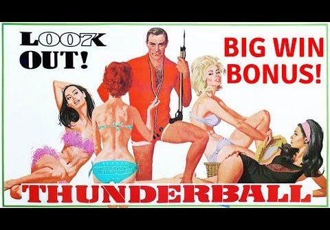 BIG WIN BONUS on JAMES BOND THUNDERBALL SLOT MACHINE POKIE BONUSES PECHANGA CASINO
