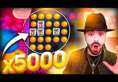 ROSHTEIN New Record Win 100.000€ on Jammin Jars Slot (x5000) – TOP 5 Mega wins of the week