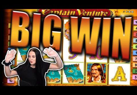 BIG WIN on CAPTAIN VENTURE Slot – Casino Stream Big Wins