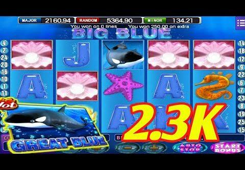 $$$ 2.3K Great blue slot mega bigwin ll Mega888 ll Free game ll SGP