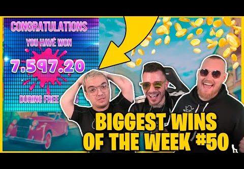 BIGGEST WINS OF THE WEEK 50! INSANE BIG WINS on Online Slots!