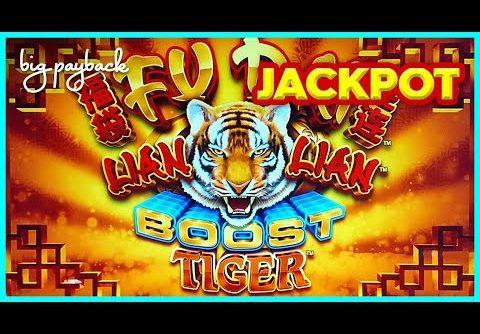 JACKPOT HANDPAY! Fu Dai Lian Lian Boost Tiger Slot – AWESOME NEW GAME!