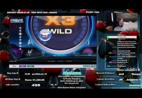 Drive Slot FreeSpins Gives Mega Big Win!!