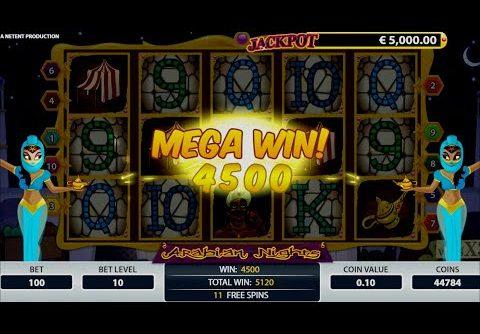 Arabian Nights Video Slot: Win Free Spins and Mega Win