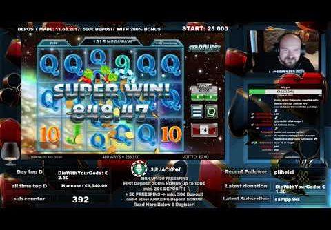 Super Big Line Hit Win From Starquest Slot!!
