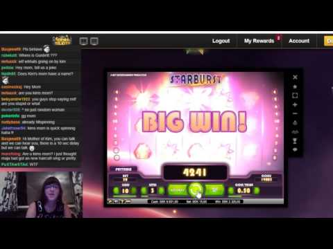 Mom getting a super big win on Starburst – with subtitles!