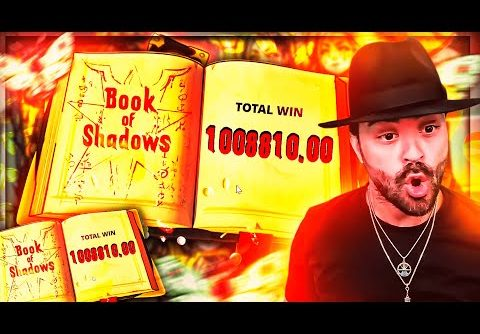 ROSHTEIN New World Record Win 1.000.000€ on Book of Shadow Slot – TOP 5 Mega wins of the week