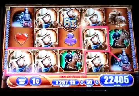 Laredo Mega Big Win Line Hit WMS Slot Machine