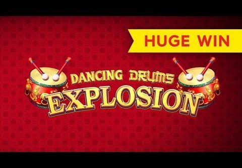 Dancing Drums Explosion Slot – BIG WIN – $10 MAX BET BONUS!