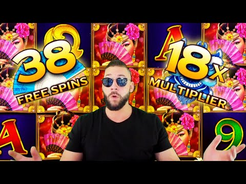 BIG WIN! PEKING LUCK slot at 38 Free Spins and MAX 18x Multiplier!