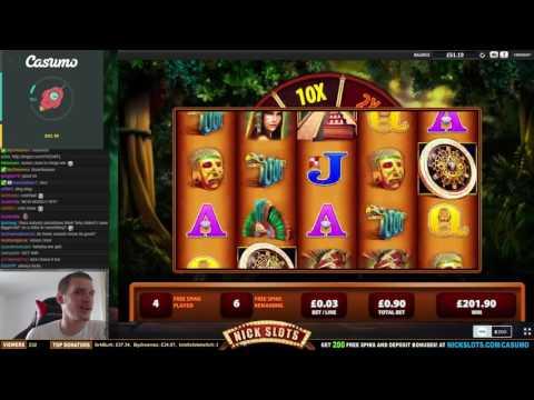 MEGA WIN On Montezuma Slot – £0.90 Bet