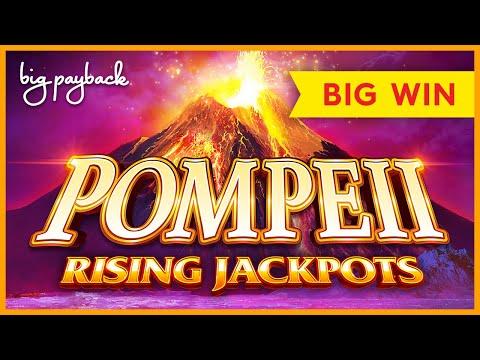 SURPRISE WIN! Pompeii Rising Jackpots Slot – BIG WIN BONUS!