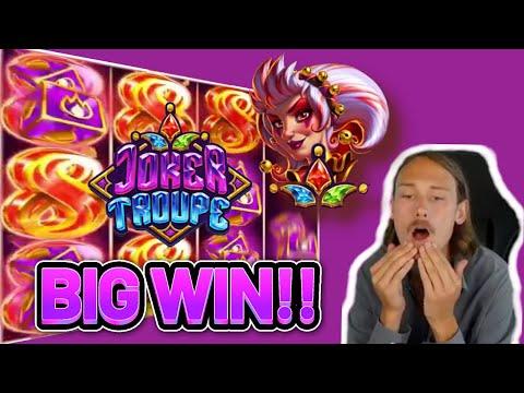 BIG WIN! JOKER TROUPE BIG WIN – €6 bet on CASINO Slot from CasinoDaddys LIVE STREAM (OLD WIN)