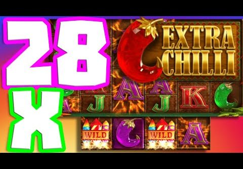 EXTRA CHILLI 🌶️  SLOT MEGA BIG WIN INSANE SESSION THIS GAME IS ON FIRE 🔥UP TO 28X MULTIPLIER‼️😱‼️