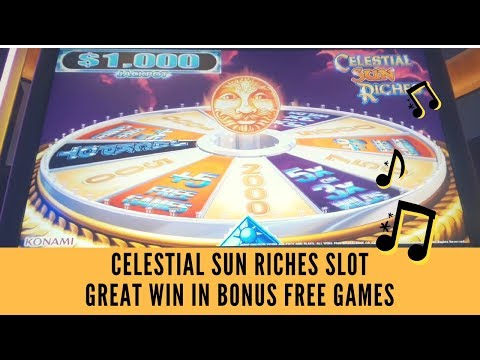 CELESTIAL SUN RICHES SLOT * GREAT WIN IN BONUS FREE GAMES – SunFlower Slots