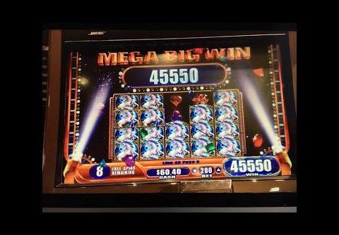 ++ HANDPAY ++ MYSTICAL UNICORN – Mega Big Win – WMS Slot Machine Pokie Wins 신비한 유니콘 슬롯 머신
