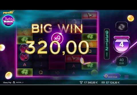 Casino – New slot Cherry pop – Bonus –  Super session – Record 94000€