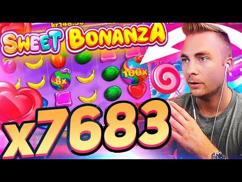 NEW RECORD WIN x7683 SWEET BONANZA SLOT | ONLINE CASINO STREAMERS TOP 5 WINS