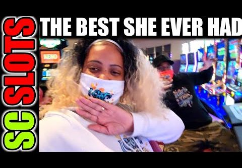 The Best Back Up Spin She Ever Had…Huge Win At The Casino!!!