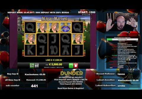 Magic Mirror Slot Gives Super Big Line Hit Win!!