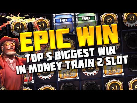 Top 5 Biggest win in Money Train 2 slot | Big wins from streamers casino twitch
