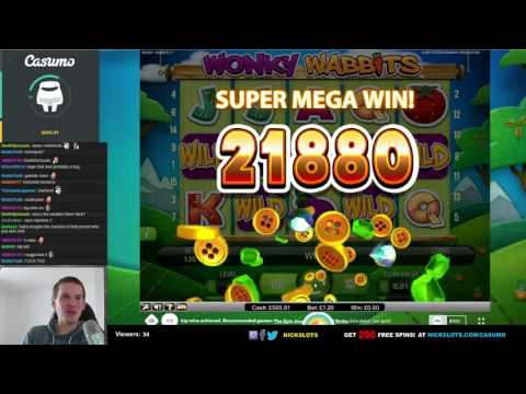 SUPER MEGA WIN on Wonky Wabbits Slot – £1.20 Bet