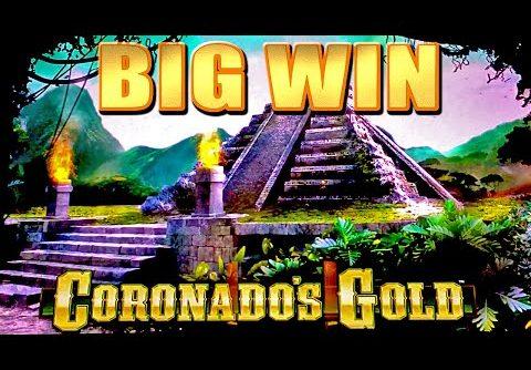 CORONADOS GOLD SLOT MACHINE BONUS BIG WIN Wms Slots