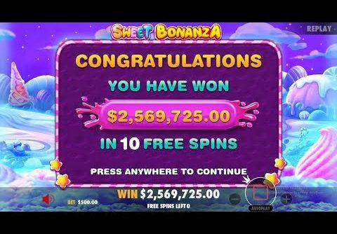 WORLD RECORD $2,5 MILLION SWEET BONANZA WIN ($50K BONUS BUY)