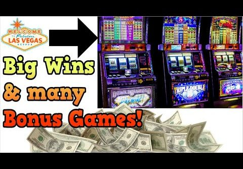 Big Wins & Lots of Bonus Games Compilation on Las Vegas Slot Machines