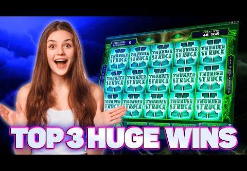Big Epic Win Compilation on Thunderstruck II Slot