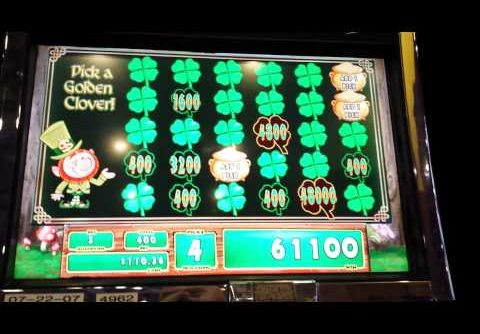 Mega big win on leprechauns gold slot machine bonus
