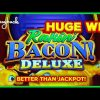 AWESOME NEW GAME! Rakin' Bacon Deluxe Golden Blessings Slot – HUGE WIN SESSION!