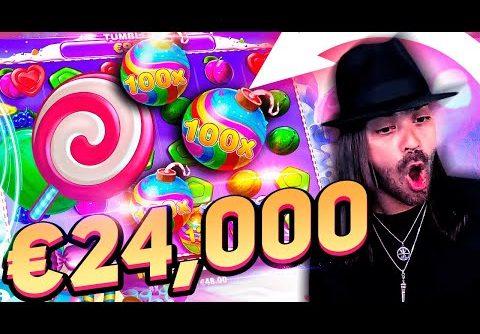 Streamer Insane win 24.000€ on Sweet Bonanza Slot – Top 5 Biggest Wins of week