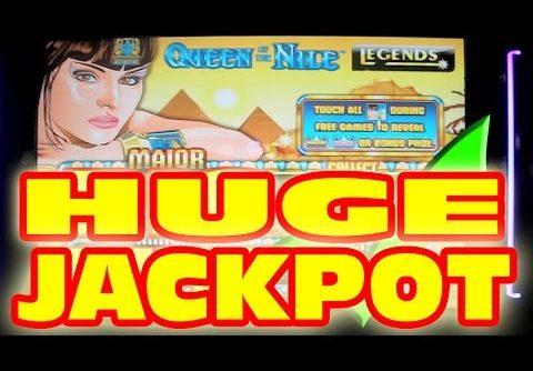 EPIC HANDPAY JACKPOT ON A QUARTER!  Queen of the Nile Slot Machine SUPER MEGA HUGE GIANT BIG WIN!