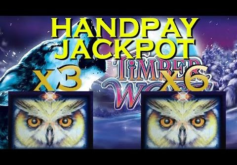 ***JACKPOT HANDPAY*** MEGA BIG WIN 18x – $2.50 BET on TIMBER WOLF DELUXE Slot Machine