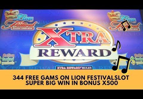344 FREE GAMES ON LION FESTIVAL SLOT ** SUPER BIG WIN IN BONUS x500 – SunFlower Slots