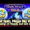 TimberWolf Gold Slot Machine – MEGA BIG WIN! Chasing 15 Gold Heads, Got 15x Wolves Instead!