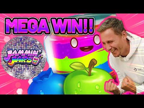MEGA WIN! JAMMIN JARS BIG WIN – €4 bet on Casino Slot from CASINODADDY