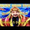 CHOY SUN DOA – 2x Bonus & Big Win – Similar 5 Dragons – Aristocrat Slot Machine Casino Pokie Wins