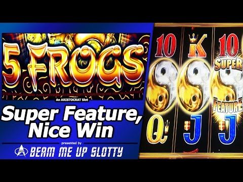 5 Frogs Slot – Free Spins, Nice Win with Super Feature Bonus