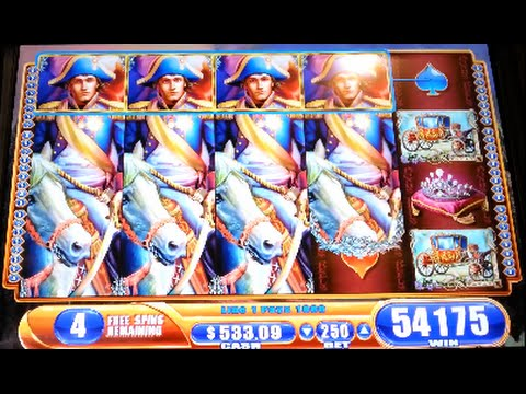 Napoleon & Josephine *MAX BET* SUPER BIG WIN! WMS Slot Machine