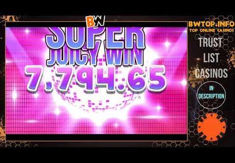 RECORD WIN on Jammin' Jars. Big Win on slot machine.