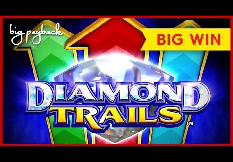 NEW KONAMI! Diamond Trails Ocean Winnings Slot – BIG WIN BONUS!