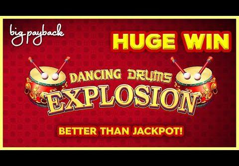 MACHINE ON FIRE! Dancing Drums Explosion Slot – HUGE WIN RETRIGGER!