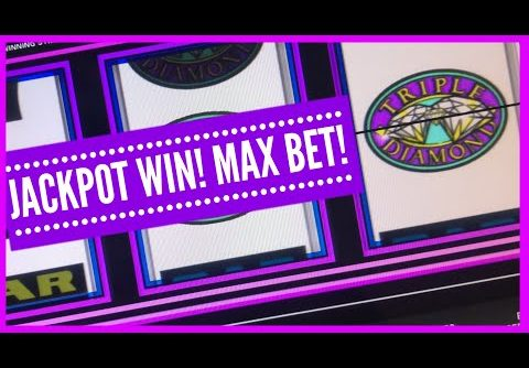 HIGH LIMIT JACKPOT/ TRIPLE DIAMOND SLOT/ MAX BET/ HUGE WIN/ MUCHO DINERO