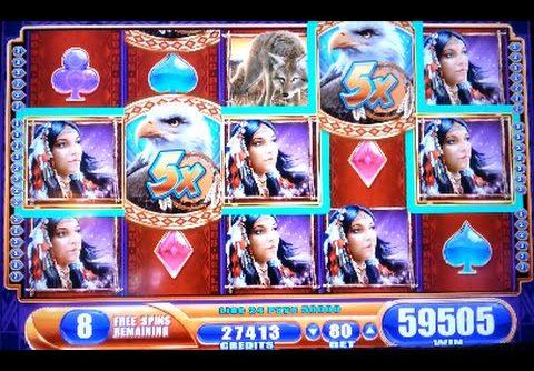 HUGE!!! Great Eagle Returns *MEGA BIG WIN* WMS Slot Machine