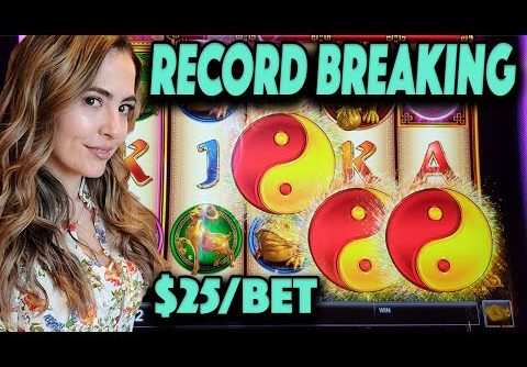 BROKE My HANDPAY RECORD on Jinse Dao Slot Machine on $25/Spin in Las Vegas!