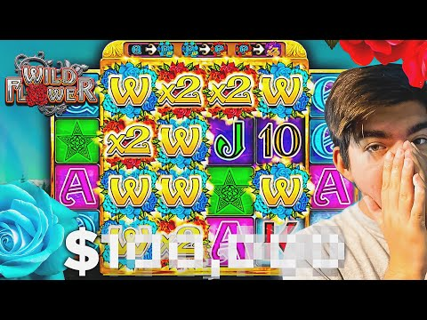 I GOT MY BIGGEST WIN EVER ON THE NEW WILD FLOWER SLOT!