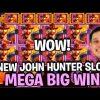 MEGA BIG WIN JOHN HUNTER AND THE MAYAN GODS NEW SLOT