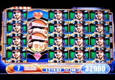 Pirate Ship *MAX BET* SUPER BIG WIN! Bonus Hit WMS Slot Machine